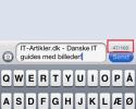 Vis antal tegn i beskeder på iPhone