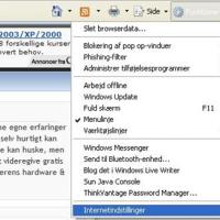 Sådan fjernes gemt data i Internet Explorer 7