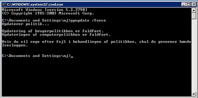 Password-politik på 2003 server