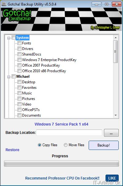 Kopier din brugerprofil i Windows