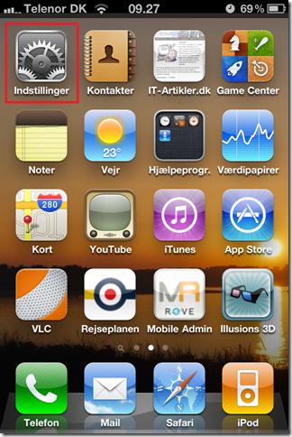 SMTP opsætning på iPhone