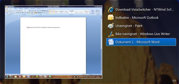 Alt-tab program til Windows