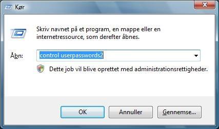 Auto login Windows Vista
