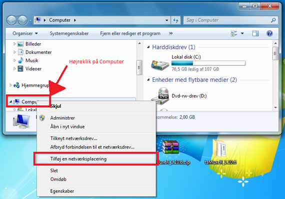 FTP adgang fra Windows
