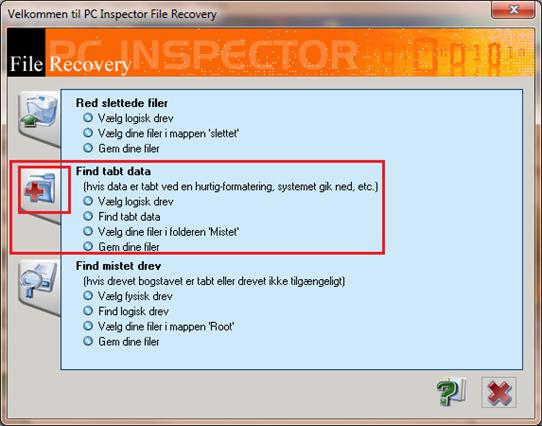 Gendan filer på din computer