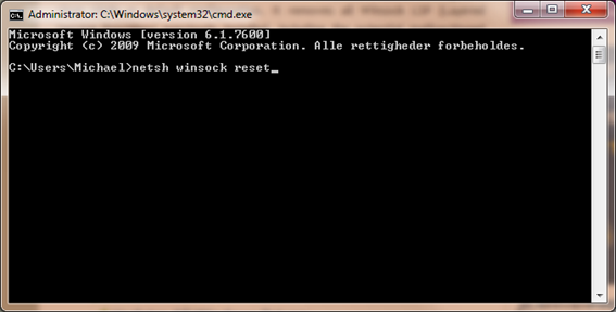 Reparer og nulstil TCP/IP Winsock i Windows