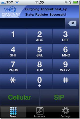 Sip iptelefoni på din iPhone