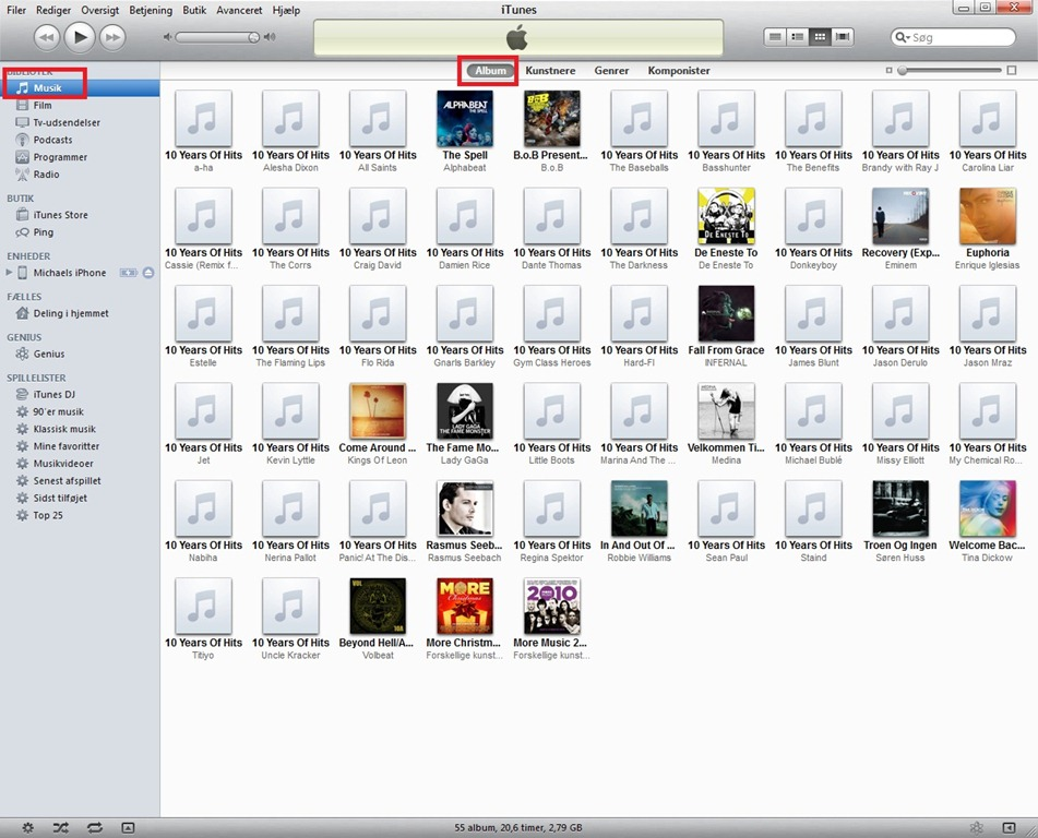 iTunes cd, album problem