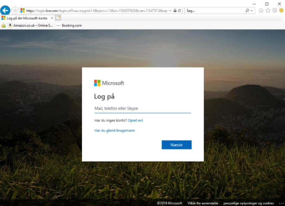 Sådan logger du på Hotmail / Microsoft Outlook online