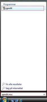 Slå hurtig brugerskift fra i Windows Vista