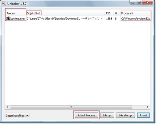 Slet skrivebeskyttet filer